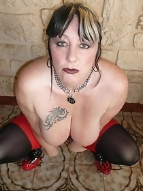 Red & Black Dress - Mature Solo Gallery