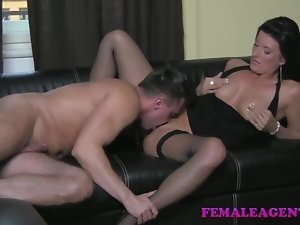 FemaleAgent HD Cocky casting gets dominated