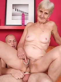 Horny guy fucks grandmother - XXX free pics