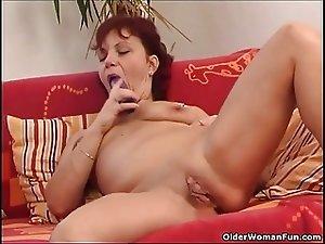 naughty blonde maid pleasing her master over billar