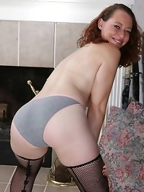 Naughty American housewife playing all by herself
