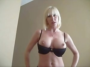 Mom and not her son caught jerking