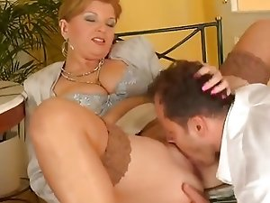 Busty mature woman gets the fuck of her life