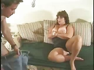 BBW Mature have fun with young cook