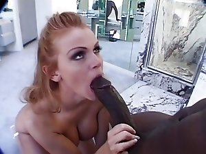 Mature redhead get fucked by black dude